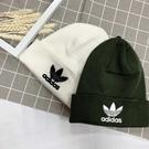 IMPACT Adidas Trefoil Beanie 毛帽 白 軍綠 三葉草 男女可戴 DH4295 DH4298