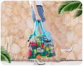 【世界風情旅行袋】附收納袋 防潑水手提袋 單肩袋 摺疊環保購物袋 海灘袋 時尚城市春捲包