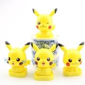 皮卡丘手辦公仔玩偶 4款 寵物小精靈 微景觀裝飾模型蛋糕裝飾