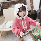 *╮小衣衫S13╭*女童清甜白色布蕾花邊帽長袖t恤1071116