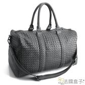 旅行袋-法國盒子.時尚立體編織大容量旅行袋(共二色)1051#