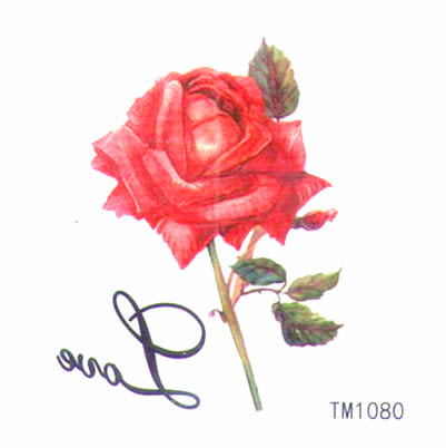薇嘉雅 玫瑰花 超炫圖案紋身貼紙 TM1080