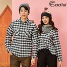 【爆殺↘990】ADISI 男格紋速乾保暖襯衫 AL1821080 (S-2XL) / 城市綠洲 (中空保暖紗、快乾、吸濕發熱)