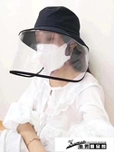 防飛沫帽子 韓國可拆卸防飛沫漁夫帽子春隔離防護目帽子女防紫外線帽男遮陽帽 酷男