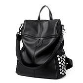 後背包-鉚釘大容量休閒旅行時尚女雙肩包2款73fd72【時尚巴黎】