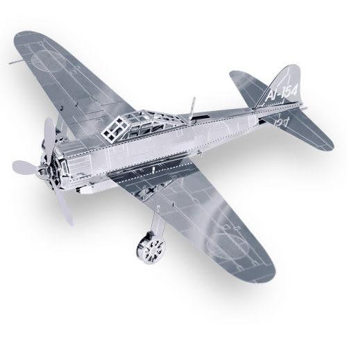 ★funbox玩具★METALLIC NANO PUZZLE 金屬微型模型拼圖 19 零式艦上戰鬥機 NO21919