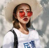 太陽眼鏡 韓版復古眼鏡超火的黃色墨鏡帶鏈條男女潮太陽鏡 TL15【棉花糖伊人】