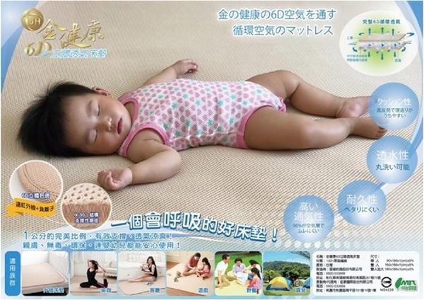2018新款MIT金健康嬰兒級立體透氣床墊(雙人尺寸: 150x186x1cm)-電電購