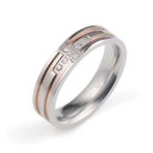 【Victoria sky】愛的十字316L西德鋼戒指(女款)