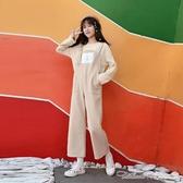 吊帶褲洛小之自制日系元氣少女裝格子背帶褲女學生韓版寬鬆連體長褲背帶褲 阿卡娜