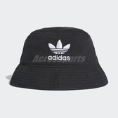 adidas 帽子 Originals Adicolor Bucket Hat 男女款 漁夫帽 三葉草 黑 白 【PUMP306】 DV0863