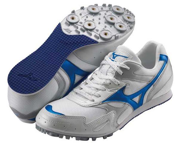MIZUNO美津濃 田徑釘鞋(白*藍 男女同款) TMC SPLIT 2 中長距離 7mm 8KM-29927
