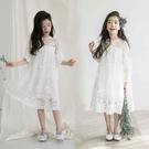 女童禮服 女童洋裝洋氣夏裝中大童超仙蕾絲裙兒童禮服公主裙-Ballet朵朵