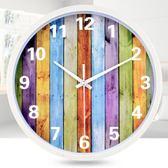 時尚簡約掛鐘客廳臥室創意掛錶石英鐘
