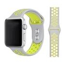 蘋果手錶 運動雙色錶帶 Apple watch洞洞矽膠錶帶 官方同款錶帶 1/2/3/4/5/6/SE代通用 免工具安裝