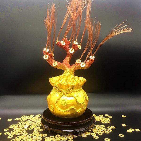 DIY手工編織串珠珍珠蜜蠟發財樹幹盆半成品散珠材料包工藝品底座 英雄聯盟