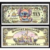 【台灣大洋金幣】美國迪士尼10美元史迪奇紀念鈔