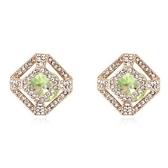 水晶耳環 925純銀耳針式-亮麗鑲鑽生日情人節禮物女飾品5色73bd153【時尚巴黎】