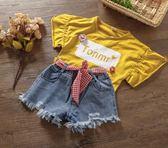 年末鉅惠 2018新款夏裝兒童女童牛仔短褲系帶破洞牛仔短褲寶寶熱褲牛仔褲子