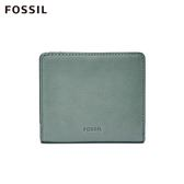 FOSSIL Emma 灰藍色真皮RFID迷你短夾 SL7150494
