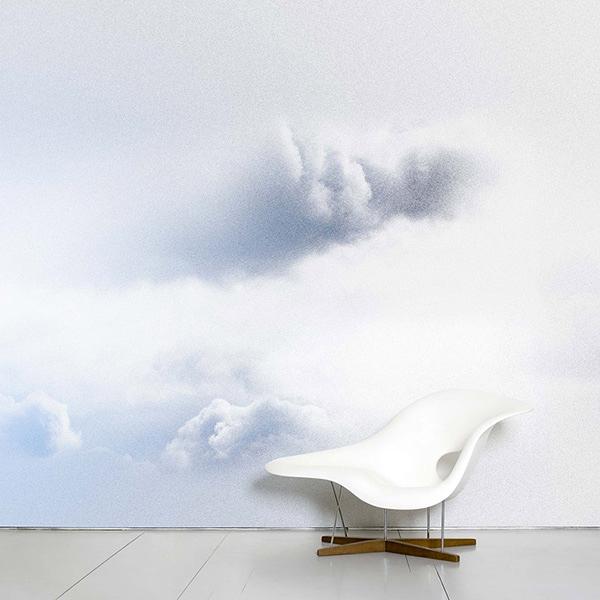 【進口牆紙】Domestic【訂貨單位372cm×3m/套(一套八張壁板)】雲法國Ciel Nebulous Benjamin Graindorge NDL046