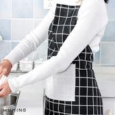 防油圍裙 棉麻 廚房 做飯 印花 日式 清潔 時尚 居家 工作服 格子 格紋 烘焙 麵包 『無名』 P04125