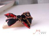 蜜諾菈Minerva‧現貨‧個性時尚黑紅印花髮飾‧編號00353