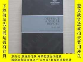 二手書博民逛書店DEFENCE罕見ANNUAL REPORT 2007-08 2