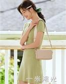 側背包包女包2020新款韓版百搭簡約小方包寬肩帶ins風單肩包 一米陽光