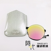 【台南 時代眼鏡 ROAV】薄鋼 折疊墨鏡 NY003 C13.66 粉水銀 圓框太陽眼鏡 美國 OVERSIZE 63mm
