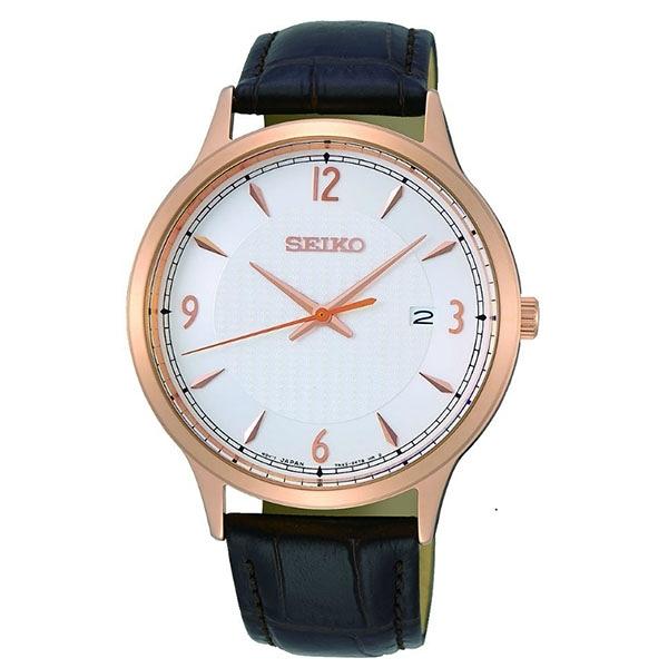 SEIKO 精工  經典百搭男款手錶 7N42-0GJ0K (SGEH88P1)玫瑰金