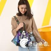 後背包  雙肩包女韓版新款個性徽章時尚背包百搭書包休閒旅行包潮-奇幻樂園
