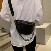 胸包女新款潮韓版小香風菱格錬條包休閒百搭側背斜背蹦迪包 韓國時尚週