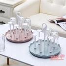 杯架 玻璃杯架水杯掛架茶杯架收納架瀝水杯架創意水杯架子置物架瀝水盤 3色