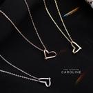 《Caroline》甜美心型簡約微鑲鋯鑽...