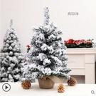 裝飾品網紅植絨PE迷你小型桌面落雪雪鬆樹場景布置擺件【新春歡樂購】