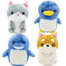 會說話的回聲娃娃 絨毛玩偶 柴犬 貓咪 企鵝 海豚 日本正版 該該貝比日本精品 ☆
