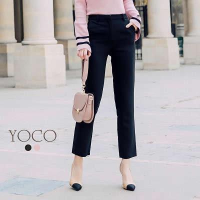 東京著衣【YOCO】安琪聯名法國女人優雅修身西裝褲-XS.S.M.L(172213)