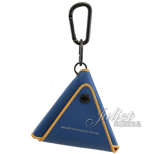 茱麗葉精品【全新現貨】COACH 858 三角形扣式鑰匙包.藍