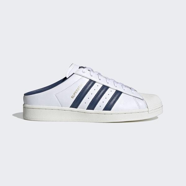 Adidas Superstar Mule [FX5859] 男女鞋 運動 休閒 露跟 貝殼 經典 懶人鞋 深藍 白