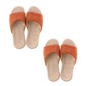 (組)居家平面輕便拖鞋-橘M x2