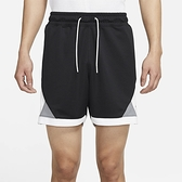 NIKE 運動褲 短褲 JORDAN 黑 灰 白 拼接 籃球短褲 男 (布魯克林) CV3087-011