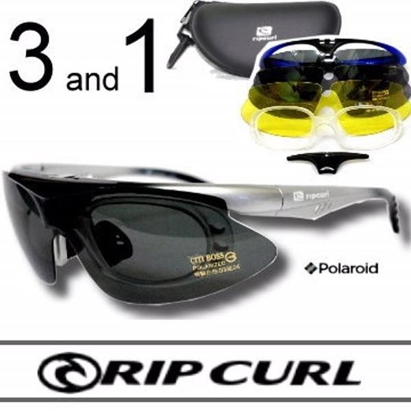 [Rip Curl]UF2025(漸層灰)抗藍光抗UV保麗萊運動3+1偏光鏡/騎車.近視.戶外族專用