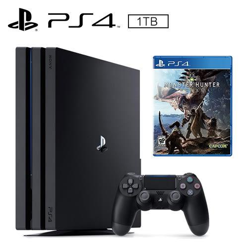 SONY PS4 PRO 1TB 主機 + 魔物獵人 世界《中文版》