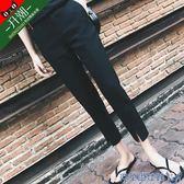 現貨-西裝褲女夏季直筒九分西褲胖mm200斤八分煙管褲小腳女褲休閒褲子8-24