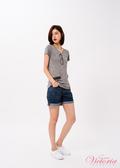 Victoria COOLMAX中高腰反褶短褲-女-V55182