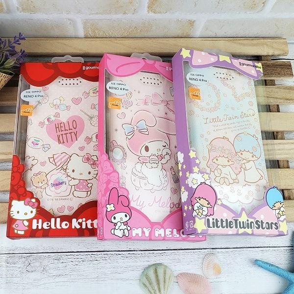 三麗鷗彩繪皮套 OPPO Reno 4 Pro (6.55吋) Hello Kitty 雙子星 美樂蒂【正版】