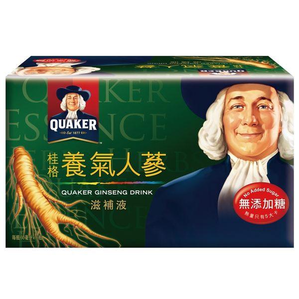 桂格-無糖養氣人蔘(6瓶/盒) 大樹