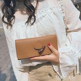 潮韓版錢包女短款可愛桃心復古抽帶時尚小錢夾女卡包 解憂雜貨鋪