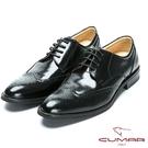 CUMAR 核心氣墊專利 - 英式牛津款皮鞋-黑色